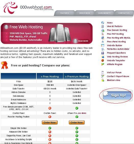free webhosting-000webhost.com